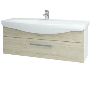 Dřevojas Koupelnová skříň TAKE IT SZZ 120 N01 Bílá lesk / Úchytka T01 / D05 Oregon 152772A