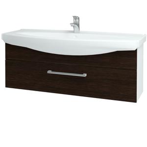 Dřevojas Koupelnová skříň TAKE IT SZZ 120 N01 Bílá lesk / Úchytka T03 / D08 Wenge 152796C