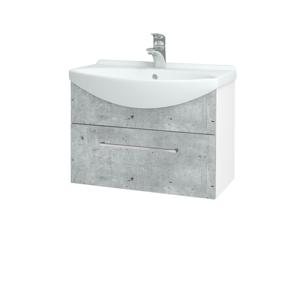 Dřevojas Koupelnová skříň TAKE IT SZZ 65 N01 Bílá lesk / Úchytka T04 / D01 Beton 152376E