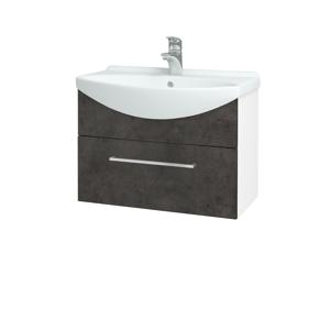 Dřevojas Koupelnová skříň TAKE IT SZZ 65 N01 Bílá lesk / Úchytka T04 / D16 Beton tmavý 206703E