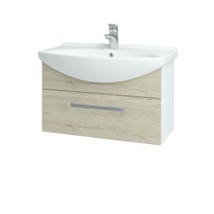 Dřevojas Koupelnová skříň TAKE IT SZZ 75 N01 Bílá lesk / Úchytka T01 / D05 Oregon 152505A