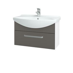 Dřevojas Koupelnová skříň TAKE IT SZZ 75 N01 Bílá lesk / Úchytka T01 / N06 Lava 206895A