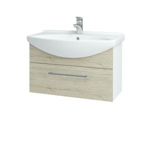 Dřevojas Koupelnová skříň TAKE IT SZZ 75 N01 Bílá lesk / Úchytka T03 / D05 Oregon 152505C