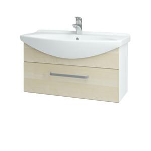 Dřevojas Koupelnová skříň TAKE IT SZZ 85 N01 Bílá lesk / Úchytka T01 / D02 Bříza 152567A
