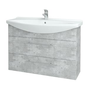 Dřevojas Koupelnová skříň TAKE IT SZZ2 105 D01 Beton / Úchytka T02 / D01 Beton 134174B
