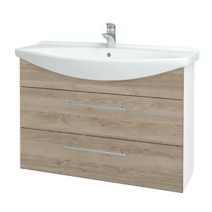 Dřevojas Koupelnová skříň TAKE IT SZZ2 105 N01 Bílá lesk / Úchytka T02 / D17 Colorado 207991B