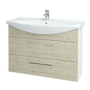 Dřevojas Koupelnová skříň TAKE IT SZZ2 105 N01 Bílá lesk / Úchytka T04 / D05 Oregon 153182E