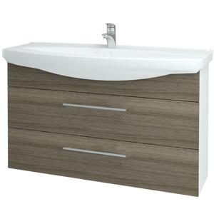 Dřevojas Koupelnová skříň TAKE IT SZZ2 120 N01 Bílá lesk / Úchytka T02 / D03 Cafe 153250B