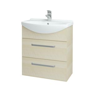 Dřevojas Koupelnová skříň TAKE IT SZZ2 65 D02 Bříza / Úchytka T01 / D02 Bříza 133764A