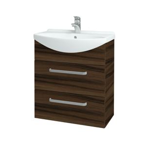 Dřevojas Koupelnová skříň TAKE IT SZZ2 65 D06 Ořech / Úchytka T01 / D06 Ořech 133795A