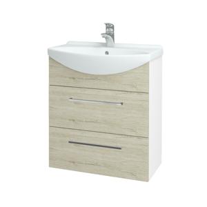 Dřevojas Koupelnová skříň TAKE IT SZZ2 65 N01 Bílá lesk / Úchytka T04 / D05 Oregon 152864E