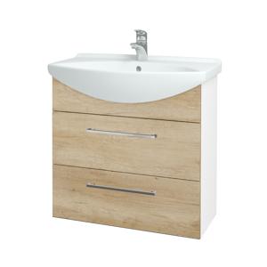 Dřevojas Koupelnová skříň TAKE IT SZZ2 75 N01 Bílá lesk / Úchytka T04 / D15 Nebraska 207656E