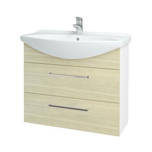 Dřevojas Koupelnová skříň TAKE IT SZZ2 85 N01 Bílá lesk / Úchytka T04 / D04 Dub 153038E