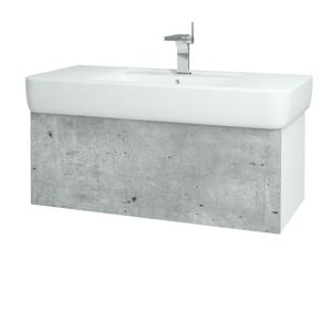 Dřevojas Koupelnová skříň VARIANTE SZZ 100 N01 Bílá lesk / D15 Nebraska 197230