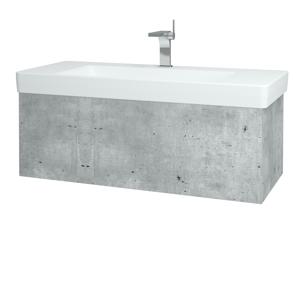 Dřevojas Koupelnová skříň VARIANTE SZZ 105 D01 Beton / D01 Beton 164249