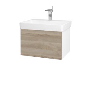 Dřevojas Koupelnová skříň VARIANTE SZZ 60 N01 Bílá lesk / D17 Colorado 194444