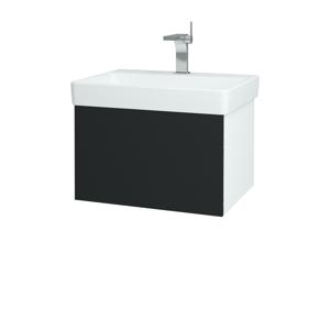 Dřevojas Koupelnová skříň VARIANTE SZZ 60 N01 Bílá lesk / L03 Antracit vysoký lesk 162801