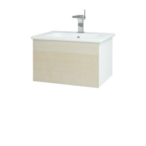 Dřevojas Koupelnová skříň VARIANTE SZZ 60 (umyvadlo Euphoria) N01 Bílá lesk / D02 Bříza 159351