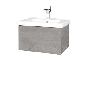 Dřevojas Koupelnová skříň VARIANTE SZZ 65 (umyvadlo Harmonia) D01 Beton / D01 Beton 190750
