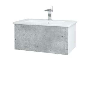 Dřevojas Koupelnová skříň VARIANTE SZZ 80 (umyvadlo Euphoria) N01 Bílá lesk / D01 Beton 159900