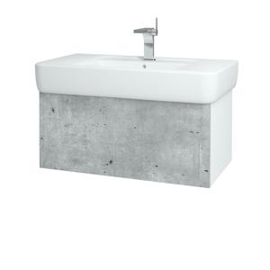 Dřevojas Koupelnová skříň VARIANTE SZZ 85 N01 Bílá lesk / N07 Stone 196905