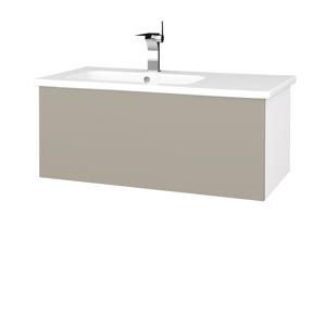 Dřevojas Koupelnová skříň VARIANTE SZZ 90 (umyvadlo Euphoria) N01 Bílá lesk / L04 Béžová vysoký lesk 189846