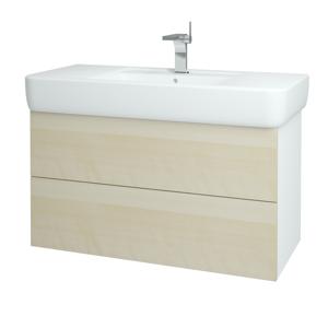 Dřevojas Koupelnová skříň VARIANTE SZZ2 100 N01 Bílá lesk / D02 Bříza 161859