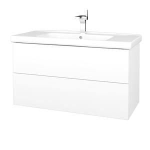 Dřevojas Koupelnová skříň VARIANTE SZZ2 100 (umyvadlo Harmonia) N01 Bílá lesk / L01 Bílá vysoký lesk 193324