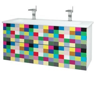 Dřevojas Koupelnová skříň VARIANTE SZZ2 120 (umyvadlo Euphoria) N01 Bílá lesk / IND Individual 161385U