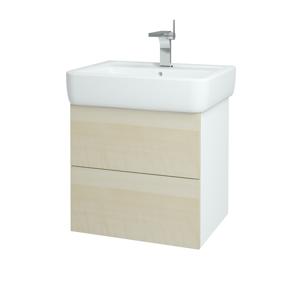Dřevojas Koupelnová skříň VARIANTE SZZ2 60 N01 Bílá lesk / D02 Bříza 165765