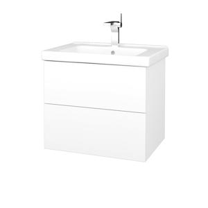 Dřevojas Koupelnová skříň VARIANTE SZZ2 65 (umyvadlo Harmonia) N01 Bílá lesk / L01 Bílá vysoký lesk 191528