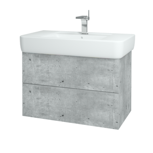 Dřevojas Koupelnová skříň VARIANTE SZZ2 85 D01 Beton / D01 Beton 166168