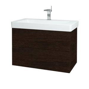 Dřevojas Koupelnová skříň VARIANTE SZZ2 85 D08 Wenge / D08 Wenge 164027