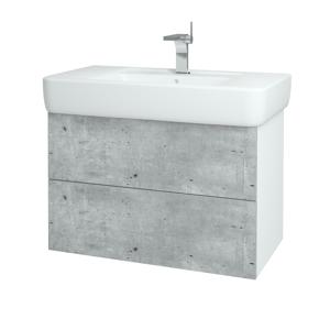 Dřevojas Koupelnová skříň VARIANTE SZZ2 85 N01 Bílá lesk / N08 Cosmo 197117