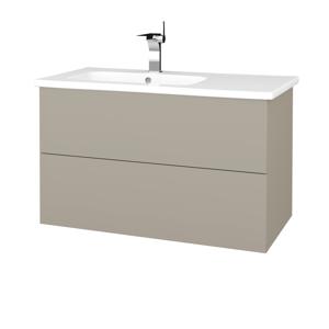 Dřevojas Koupelnová skříň VARIANTE SZZ2 90 (umyvadlo Euphoria) M05 Béžová mat / M05 Béžová mat 189228