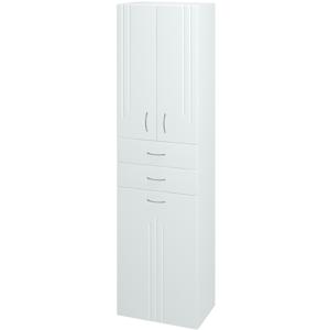 Dřevojas Skříň vysoká DREJA SVD3KZ2 50 N01 Bílá lesk / L01 Bílá vysoký lesk 15285