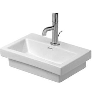 DURAVIT 2nd floor Bezotvorové umývátko bez přepadu, 400mm x 300 mm, bílé 0790400070