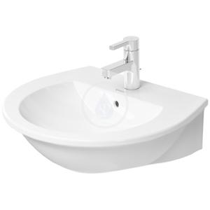 DURAVIT Darling New Umyvadlo s přepadem, 550 mm x 480 mm, bílé, Umyvadlo s přepadem, 550 mm x 480 mm, bílé tříotvorové umyvadlo 2621550030