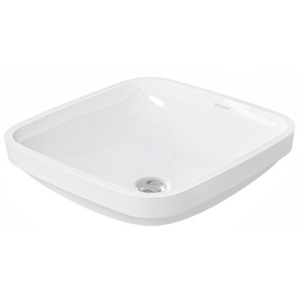 DURAVIT DuraStyle Bezotvorové umyvadlo bez přepadu, 370 mm x 370 mm, bílé, Bezotvorové umyvadlo bez přepadu, 370 mm x 370 mm, bílé umyvadlo 0373370000