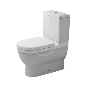 DURAVIT Starck 3 WC kombi mísa, Vario odpad, s HygieneGlaze, alpská bílá 0128092000