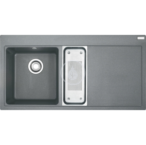 FRANKE Mythos Fragranitový dřez MTG 651-100/2, 1000x515 mm, šedý kámen 114.0150.022