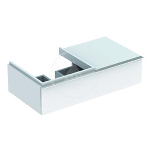 GEBERIT iCon Spodní skříňka pod umyvadlo se zásuvkou a odkládací plochou, 890x240x477 mm, bílá lesklá 840490000
