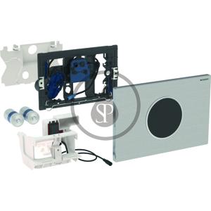 GEBERIT Sigma10 Elektronické ovládací tlačítko pro 2 množství splachování, bateriové napájení, kartáčovaná/leštěná nerez 115.909.SN.1
