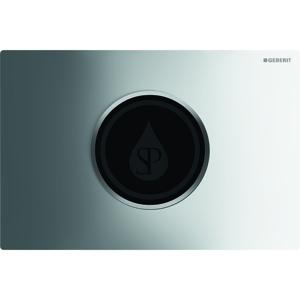 GEBERIT Sigma10 Elektronické ovládací tlačítko pro 2 množství splachování, síťové napájení, lesklý chrom/chrom mat 115.907.KH.1