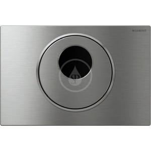 GEBERIT Sigma10 Elektronické ovládání splachování WC, ovládací tlačítko SIGMA10, síťové napájení, nerez 115.890.SN.5