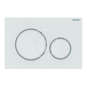 GEBERIT Sigma20 Ovládací tlačítko pro 2 množství splachování, bílá/bílá mat 115.882.11.1