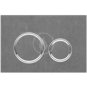 GEBERIT Sigma21 Ovládací tlačítko splachování, černá břidlice/lesklý chrom 115.884.JM.1