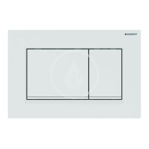 GEBERIT Sigma30 Ovládací tlačítko pro 2 množství splachování, bílá/bílá mat 115.883.11.1