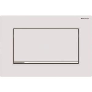 GEBERIT Sigma30 Ovládací tlačítko Sigma30, splachování Start/Stop, bílá mat/chrom 115.893.JT.1