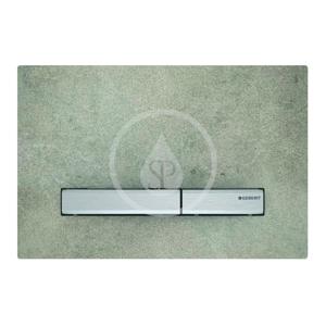 GEBERIT Sigma50 Ovládací tlačítko pro 2 množství splachování, dekor betonu/chrom 115.788.JV.2